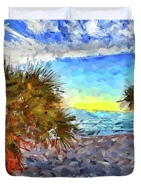 Sarasota Beach Florida Duvet Cover
