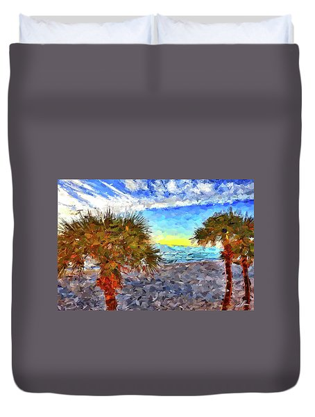 Duvet Cover featuring the photograph Sarasota Beach Florida by Joan Reese