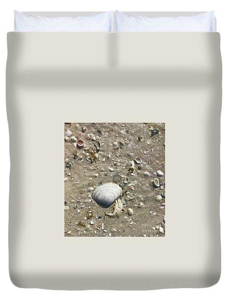 Sarasota County Shells Duvet Cover