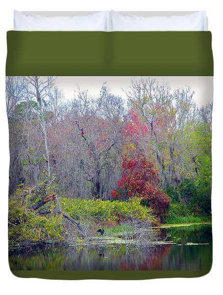 Duvet Cover featuring the photograph Sarasota Reflections by Madeline Ellis