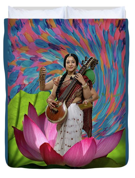 Saraswati Duvet Cover by David Clanton