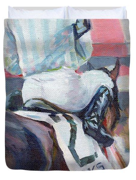 Saratoga Stripes Duvet Cover by Kimberly Santini
