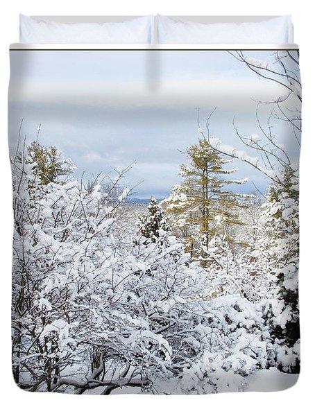 Saratoga Winter Scene Duvet Cover