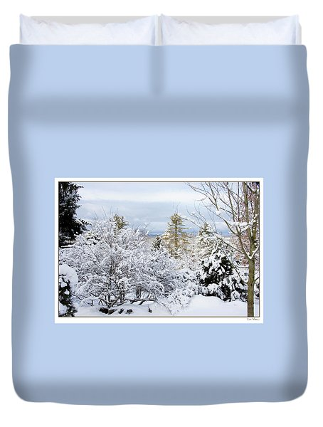 Saratoga Winter Scene Duvet Cover