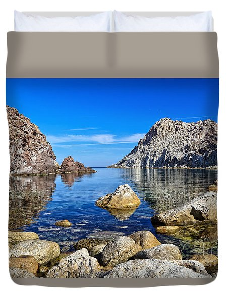 Sardinia - Calafico Bay  Duvet Cover