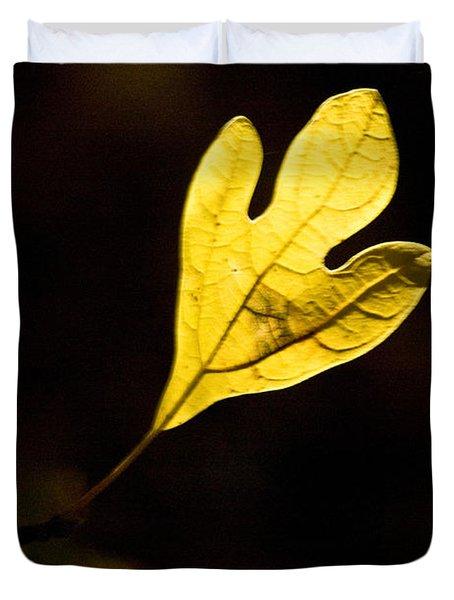 Sassafras Leaf Aglow Duvet Cover