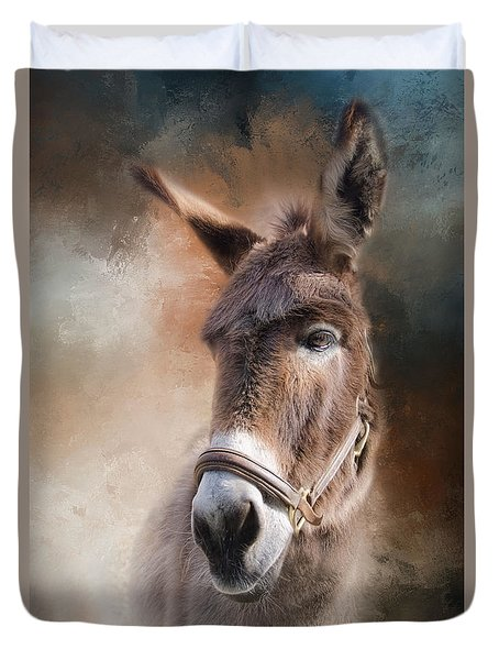 Duvet Cover featuring the photograph  Lil Sassafrass by Robin-Lee Vieira