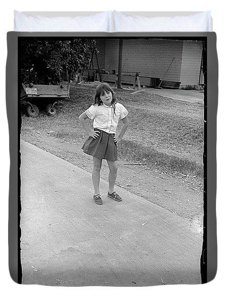 Sassy Girl, 1971 Duvet Cover