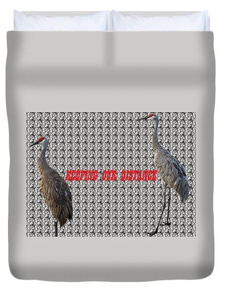 Sassy Sandhil Cranes Duvet Cover
