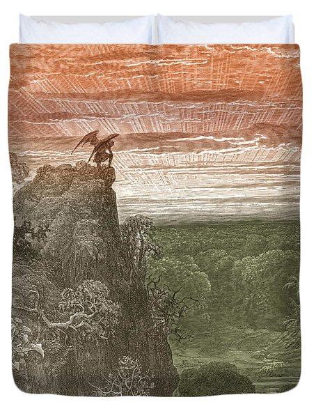 Satan, By Dore Duvet Cover by Photo Researchers