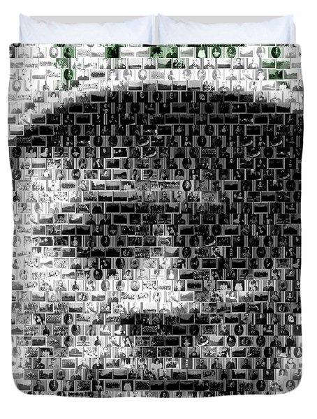 Satchel Paige Kc Monarchs African American Mosaic Duvet Cover by Paul Van Scott