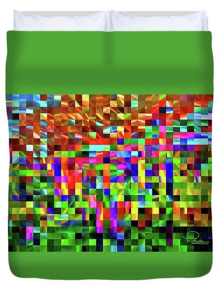 Satin Tiles Duvet Cover