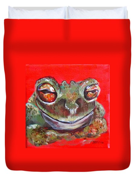 Satisfied Froggy  Duvet Cover
