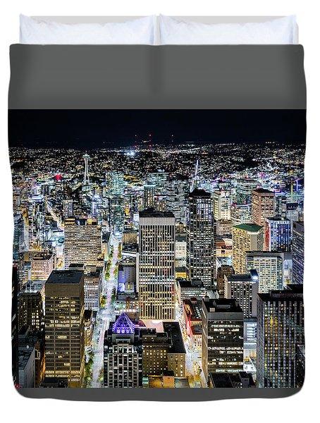 Seattle Lights Duvet Cover