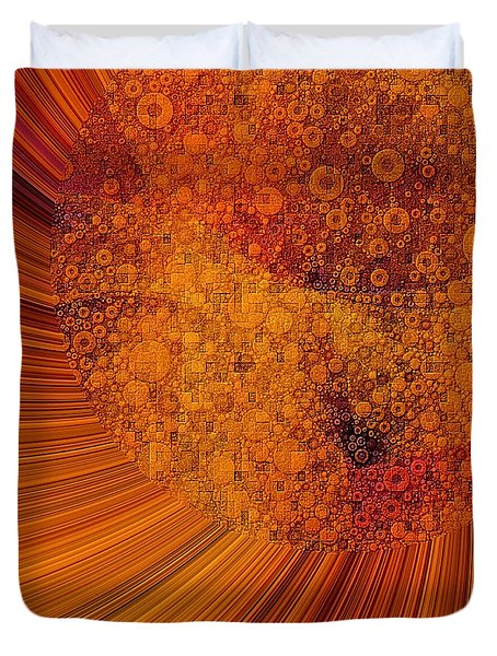 Saturated In Sun Rays Duvet Cover