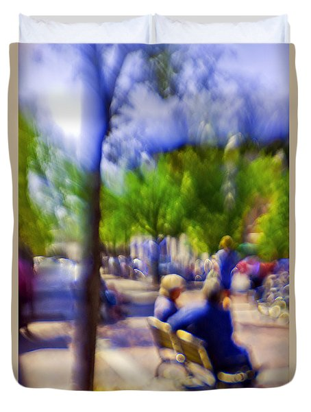 Saturday Afternoon II Duvet Cover by Madeline Ellis