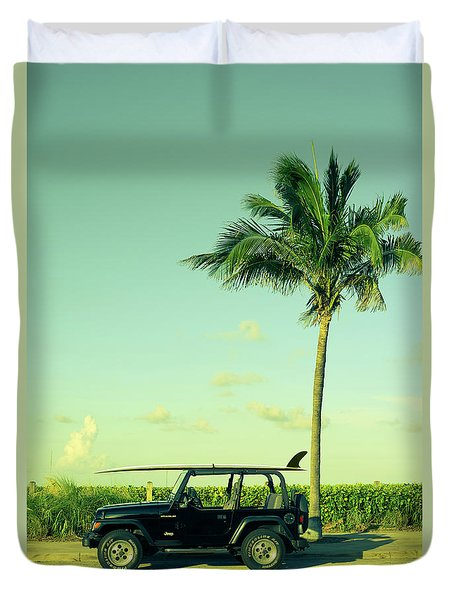 Duvet Cover featuring the photograph Saturday by Laura Fasulo