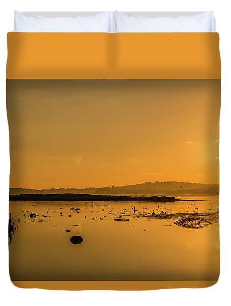 Saturday Morning Along The Estuary  Duvet Cover
