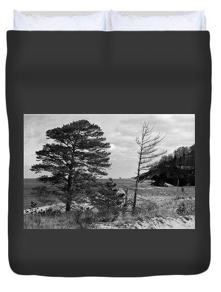 Saugatuck State Park In November Duvet Cover