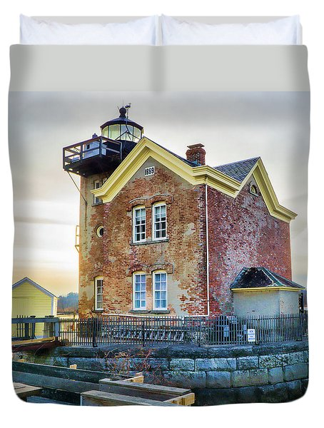 Saugerties Lighthouse Duvet Cover by Nancy De Flon