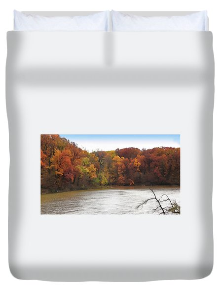 Sauk Lake Autumn Duvet Cover