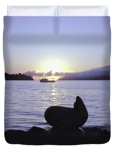 Sausalito Morning Duvet Cover