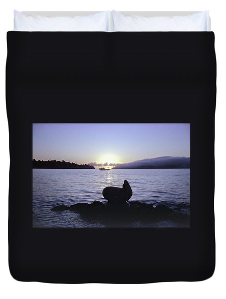 Sausalito Morning Duvet Cover