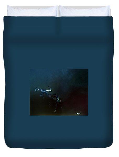 Savage Bull Duvet Cover by Jean Yves Crispo