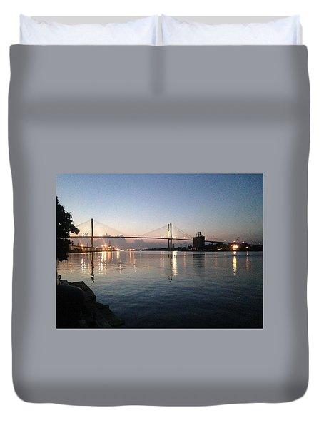 Savannah Bridge Evening  Duvet Cover