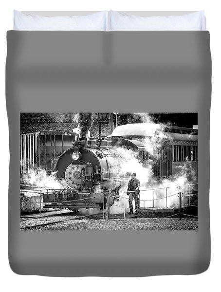 Savannah Central Steam Locomotive Duvet Cover by Scott Hansen