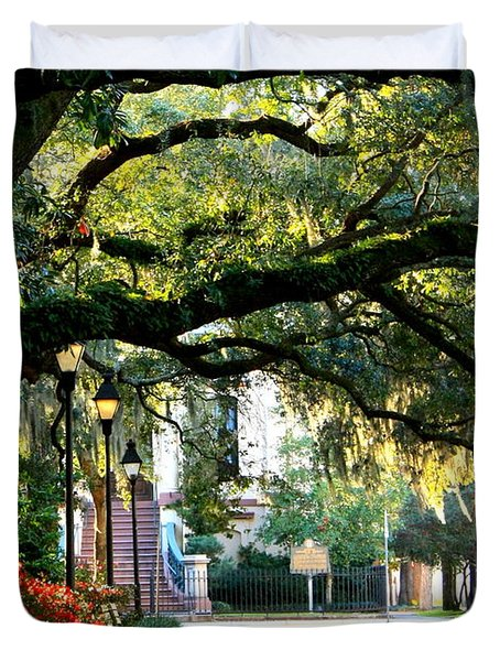 Savannah Park Sidewalk Duvet Cover