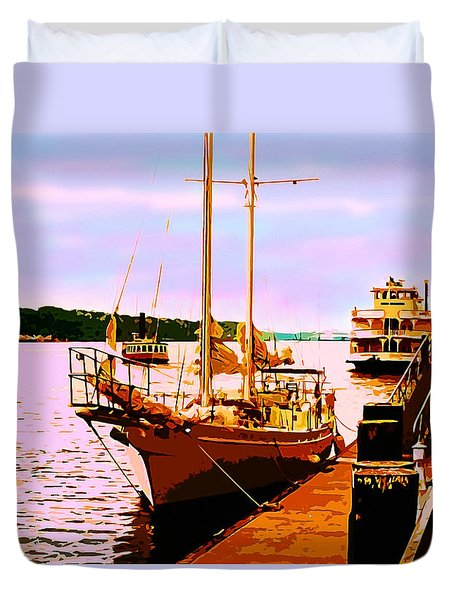 Savannah River Duvet Cover