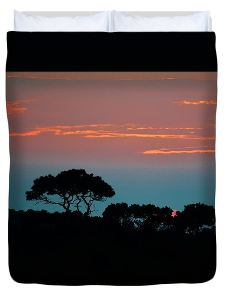 Savannah Sunset Duvet Cover by William Bartholomew