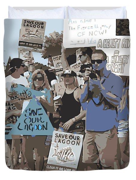 Save Our Lagoon Duvet Cover