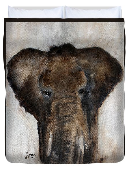 Save The Elephant Duvet Cover