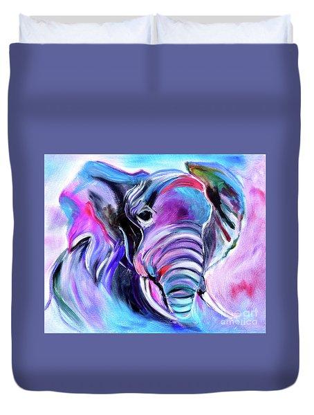 Save The Elephants Duvet Cover