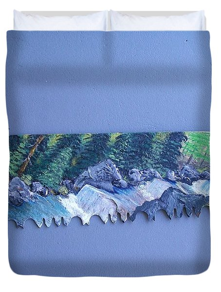 Saw Blade 3   Tetraptych Duvet Cover