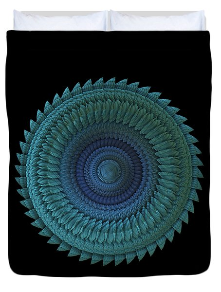 Duvet Cover featuring the digital art Sawblade by Lyle Hatch
