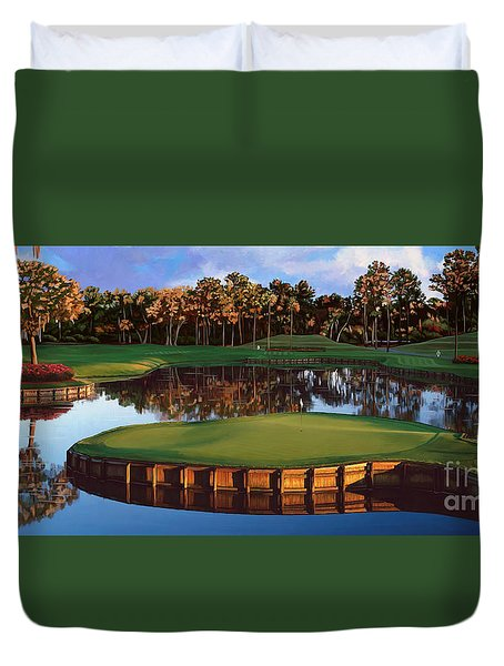 Sawgrass 17th Hole Hol Duvet Cover by Tim Gilliland