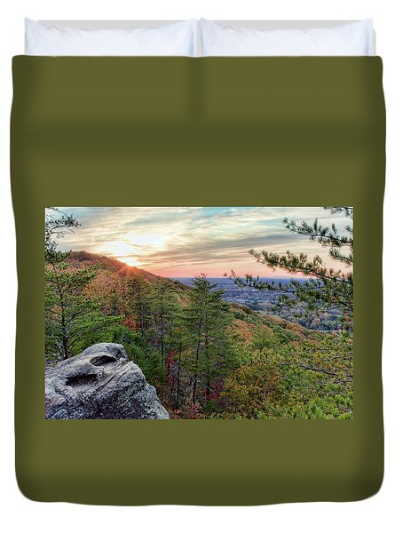 Sawnee Mountain And The Indian Seats Duvet Cover