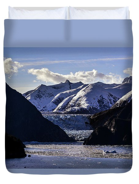 Sawyer Glacier In Tracy Arm Fjord Duvet Cover