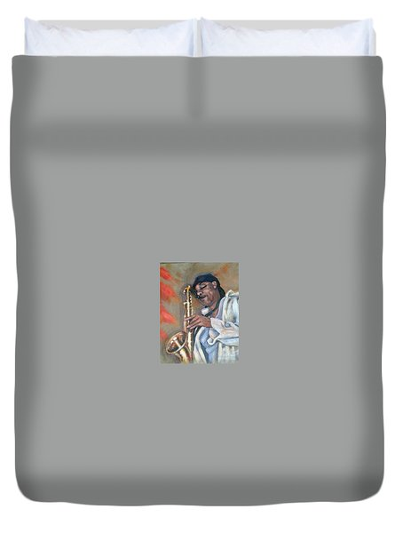 Sax And Linen Duvet Cover