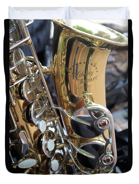 Sax In The City Duvet Cover