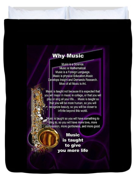 Saxophone Photographs Or Pictures For T-shirts Why Music 4819.02 Duvet Cover