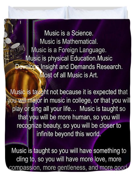 Saxophone Photograph Why Music For T-shirts Posters 4819.02 Duvet Cover