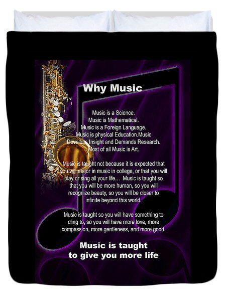 Saxophone Photograph Why Music For T-shirts Posters 4819.02 Duvet Cover by M K  Miller
