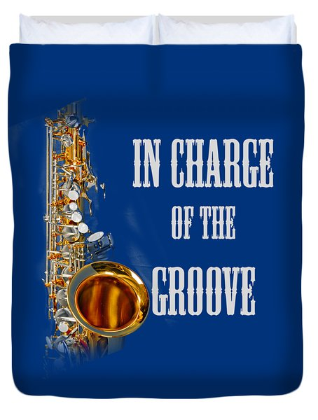 Saxophones In Charge Of The Groove 5531.02 Duvet Cover