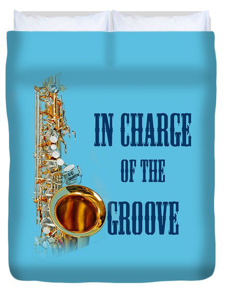 Saxophones In Charge Of The Groove 5532.02 Duvet Cover