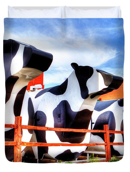 Say Cheese Duvet Cover by Dale R Carlson