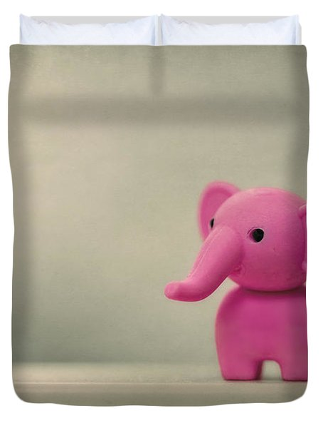 Say Hello To My Little Friend Duvet Cover by Evelina Kremsdorf